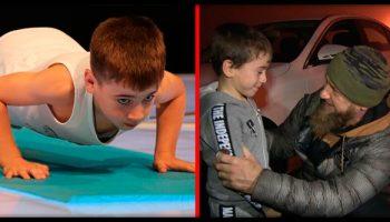 6-летний «чеченский Шварценеггер» легко установил два новых рекорда