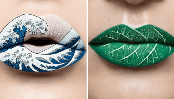 Визажист создает на своих губах идеальные произведения искусства