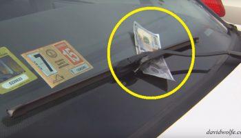 Если вы нашли 100 $ на стекле на парковке, не выходите из машины! Срочно уезжайте!