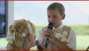 Сынок спел с мамой-невестой трогательную песню. Гости свадьбы не смогли сдержать слез!
