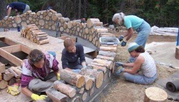 Они построили дом из обычных дров! В доме тепло даже в морозную зиму!