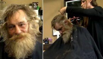 Пропащему бездомному дали новую одежду и подстригли. Теперь дамы от него без ума…