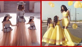 Восхитительные наряды для мамочек и их дочерей! Роскошные идеи