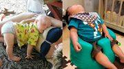 Маленькие дети могут спать в любой позе и в любом месте