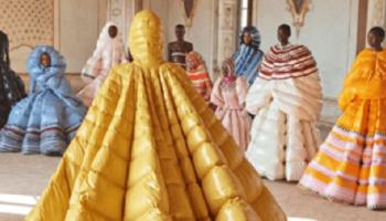 Креативные дизайнерские платья-пуховики от Valentino. А Вы готовы такое носить?