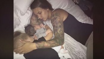 Муж сфотографировал свою спящую жену и выложил фото в интернете.