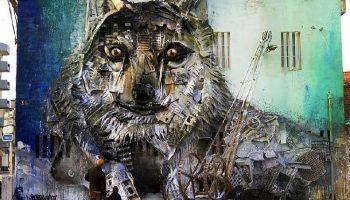 Уличный художник создает потрясающие скульптуры животных из мусора