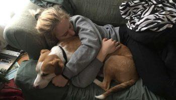 Встреча собаки со своей хозяйкой, после долгой разлуки. Пес не может поверить в свое счастье!