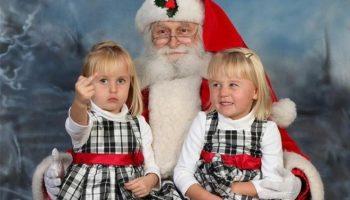 40 фото Санта Клауса с детьми на которые без смеха нельзя смотреть