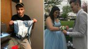 Парень сшил своей подруге, у которой не было денег, платье на выпускной