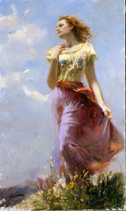 И Бог создал женщину... И теперь нет покоя ни мужчине, ни Богу. Картины Пино Даени.