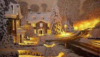 Уютные снежные картины талантливого канадского художника Ричарда Савойя