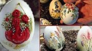 Вышивка на яичной скорлупе — филигранное искусство, которому нет равных!
