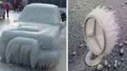 28 прекрасных фотографий, как зима превращает автомобили в произведения искусства