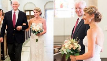 Американку Джени вел к алтарю, в день ее свадьбы, мужчина с сердцем ее отца