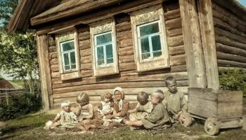 Уникальные цветные фото дореволюционной семьи крестьян Российской империи