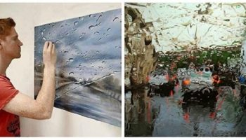 Художник, рисующий дождь: реалистичная живопись Грегори Тилкера