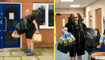 Чтобы накормить своих учеников, учитель из Британии ежедневно проходит по 8 км