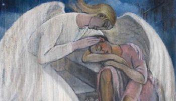 Душевный стих — «Мой ангел, обними меня крылом и просто посиди немного рядом»