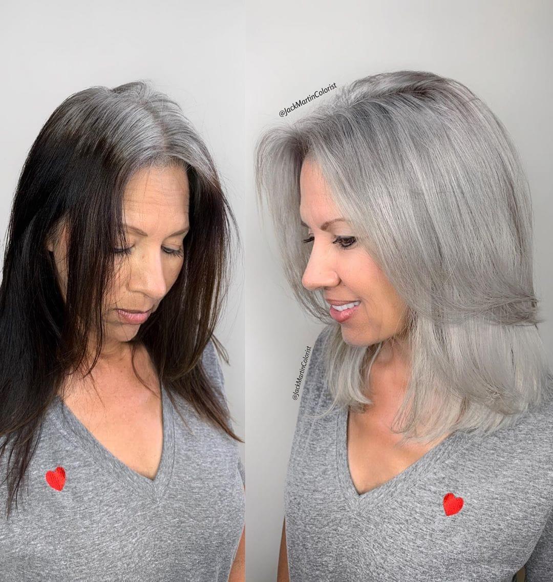 Клиентки этого парикмахера гордятся своей сединой, а не прячут ее