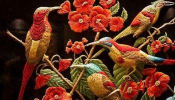 3D вышивки знаменитого Шамсуддина из Агры