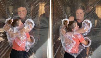 10 летняя девочка из американского Риверсайда, так хотела обнять бабушку с дедушкой во время карантина, что придумала гениальную вещь!