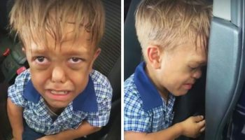 9-летнему австралийскому мальчику -карлику, который стал жертвой издевательств в школе, пришел на помощь пес