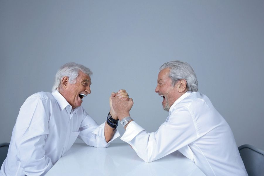 Две легенды: Ален Делон и Жан-Поль Бельмондо в фотосессии Paris ...