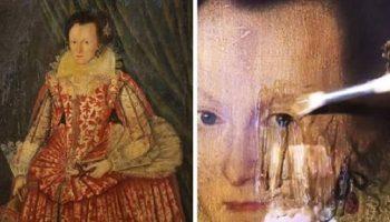 Британский искусствовед снял с картины XVII века 200-летний слой лака, и показал миру, как выглядела картина около 400-х лет назад