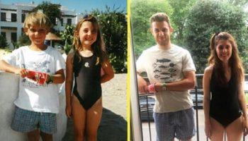 Молодожены узнали, что были знакомы с детства, когда разбирали семейные фотоархивы