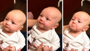 Малыш, у которого с самого рождения отсутствует слух, в первые услышал голос мамы
