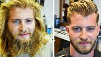 Настоящая магия превращения мужчин, которые сдались на милость парикмахера