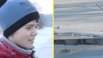 Чтобы спасти восьмилетнего мальчика, шестиклассник прыгнул в ледяную воду