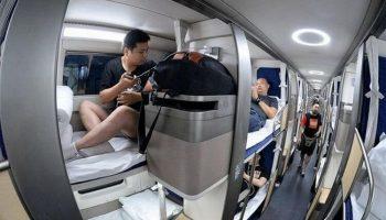 Вот так выглядит плацкартный вагон в Китае