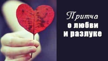 Прекрасная притча о любви и разлуке