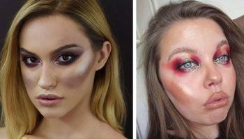 15 ужасных примеров макияжа, за который визажисты должны еще доплачивать
