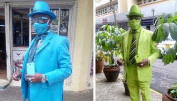 Смартфон к носкам, а носки к галстуку, всегда тщательно подбирает стиляга из Кении