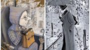 Очаровательные осенние зарисовки эмигрантки-петербурженки: художник, что рисует дождь