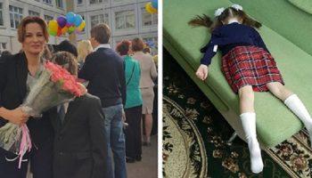 19 фото о том, как радуются родители 1 сентября, что дети снова идут в школу!