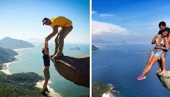 Почему мужчины, женщины и даже дети, рискуют жизнью ради фото на этой скале