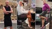 В юбках и женских туфлях смело щеголяет этот американец, просто потому, что ему так нравится