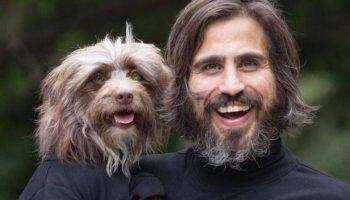 Пес и его хозяин удивительно похожи друг на друга: как две капли