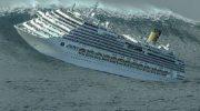 Страшные кадры! Вот что происходит во время бури внутри круизного судна