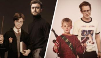 24 фото знаменитых актера совмещенные со своими самыми знаменитыми ролями