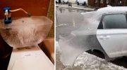 40 снимков, как переживают аномальные морозы американцы