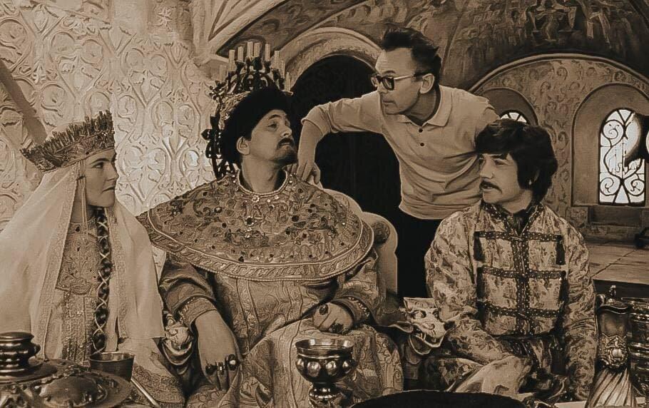 Кадр со съемочной площадки фильма «Иван Васильевич меняет профессию», 1973