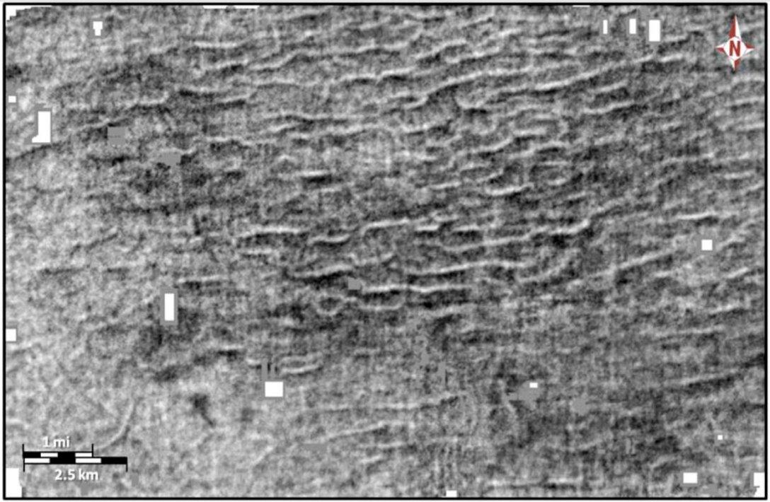 морская рябь, сейсмические изображения, снимок